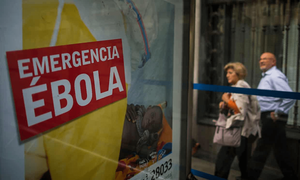 A Spanish campaign to fight Ebola in Africa. The west is finally waking up to the disease's decimating effect, writes Henrietta Moore. Photograph: Andres Kudacki/AP